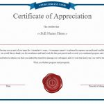 NE0005-Certificate of Appreciation