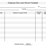 NE0018 Employee Sick Leave Record Template