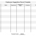 NE0022 Employees Suggestions Record Template