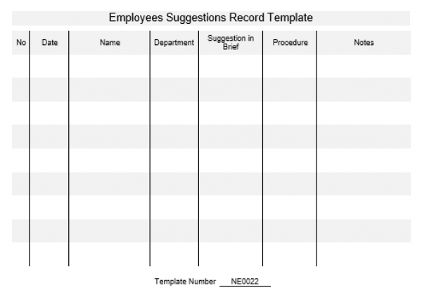 employee notes template