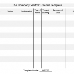 NE0027 The Company Visitors' Record Template