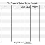 NE0027 The Company Visitors' Record Template