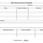NE0030 Daily Absence Record Template