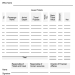 NE0036 Issued Tickets list form