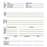 NE0042 Employee Work Injury template