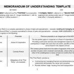 NE0001 Memorandum Of Understanding Template - English
