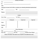 NE0063 Permission To The Office Outside Formal Work Template - English