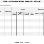 NE0065 Template for General Salaries Record
