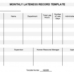 NE0066 Monthly Lateness Record Template - English