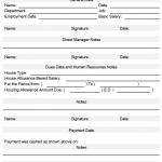NE0082 Housing Allowance Request Template