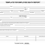 NE0089 Template for Employee Death Report