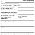NE0093 Template for Work Certificate Letter