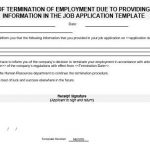 NE0059 Letter of Termination of Employment due to Providing Wrong Information in the Job Application Template - English