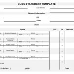 NE0067 Dues Statement Template - English