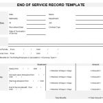 NE0090 End of Service Record Template - English