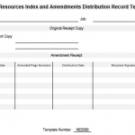 NE0098 Human Resources Index and Amendments Distribution Record Template