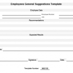 NE0100 Employees General Suggestions Template