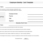 NE0101 Employee ID Card Template