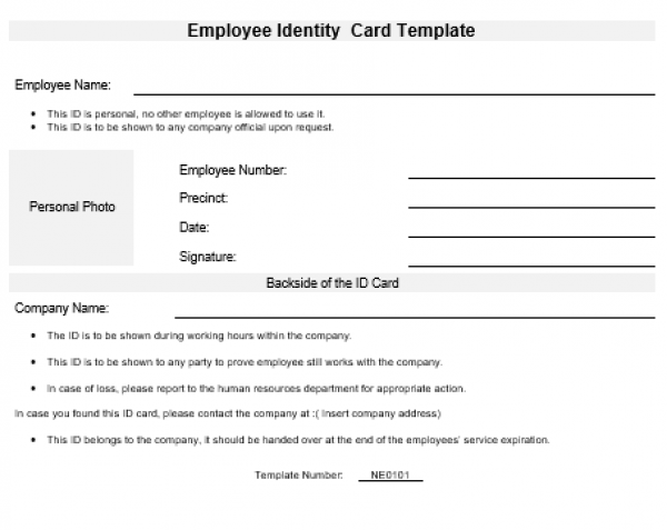 Employee Id Template from www.namozaj.com