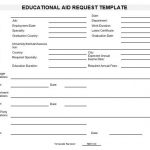 NE0103 Educational Aid Request Template - English