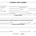 NE0104 Complaint Letter Template