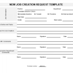 NE0112 New Job Creation Request Template