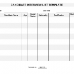 NE0115 Candidate Interview List Template