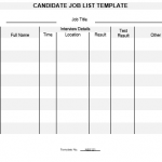 NE0121 CANDIDATE JOB LIST TEMPLATE