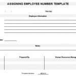 NE0131 Assigning Employee Number Template - English