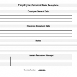 NE0134 Employee General Data Template