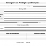 NE0136 Employee Card Printing Request Template