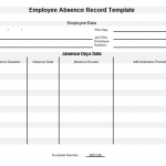 NE0138 Employee Absence Record Template