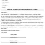 NE0209 Letter of Recommendation Template - English