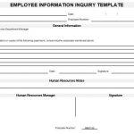 NE0133 Employee Information Inquiry Template - English