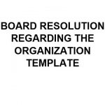 NE0173 Board Resolution Regarding The Organisation Template - English