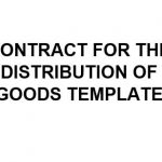 NE0189 Distribution of Goods Agreement Template - English
