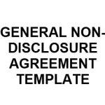 NE0044 General Non Disclosure Agreement Template - English
