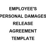 NE0120 Employees's Personal Damages Release Agreement Template - English