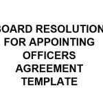 NE0170 Board Resolution Of Appointing Officers Agreement Template – EnglishNE0170 Board Resolution Of Appointing Officers Agreement Template – English