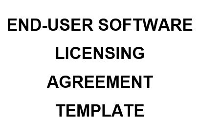 Ne0194 End User Software Licensing Agreement Template English