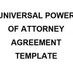 NE0198 UNIVERSAL POWER OF ATTORNEY AGREEMENT TEMPLATE - ENGLISH