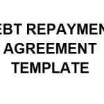 NE0204 DEBT REPAYMENT AGREEMENT TEMPLATE - ENGLISH