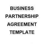 NE0208 BUSINESS PARTNERSHIP AGREEMENT TEMPLATE - ENGLISH