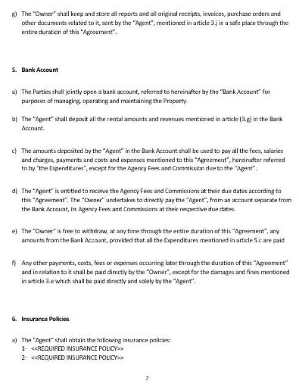 NE0213 Property Management Agreement Template – English – Namozaj
