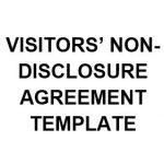 NE0228 VISITORS NON DISCLOSURE AGREEMENT TEMPLATE - ENGLISH