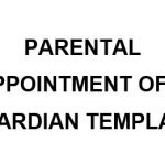 NE0237 Parental Appointment of A Guardian Template - English