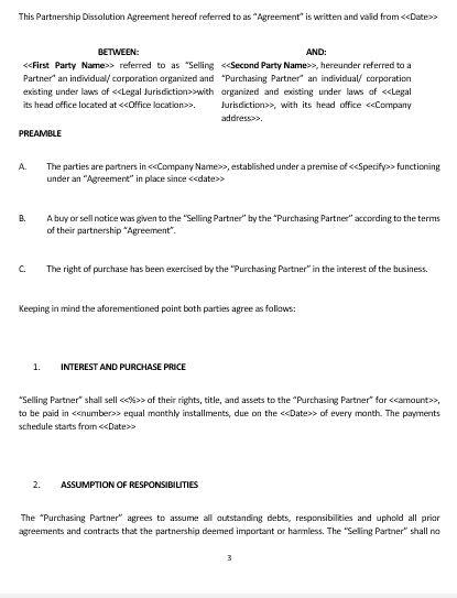 Ne0242 Partnership Termination Agreement Template English Namozaj