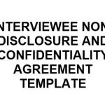 NE0247 Interviewee Non-Disclosure and Confidentiality Agreement Template - English