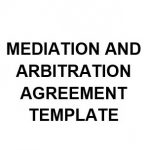 NE0255 Mediation and Arbitration Agreement Template - English