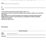 NE0083 Template for Letter of Termination of Service Due to Expiry of Contract